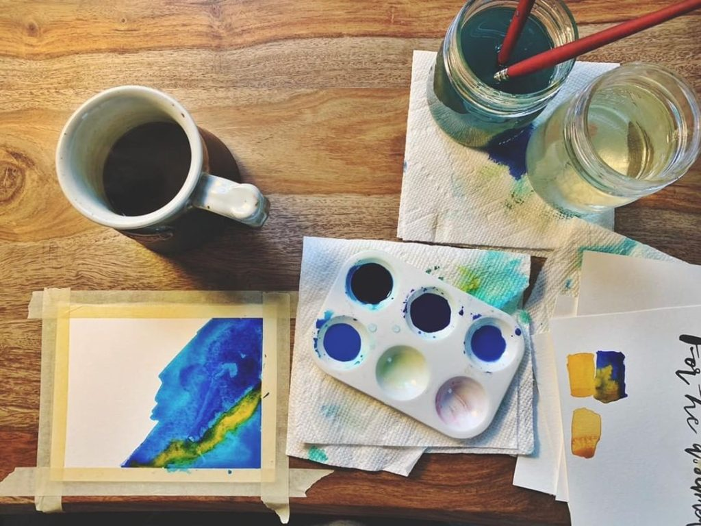 Watercolor can be worship